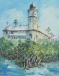 An oil painting of the Brewery in Townsville